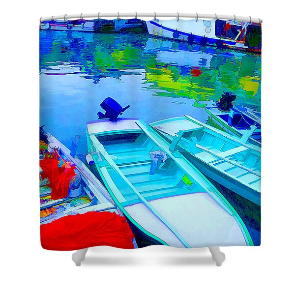 Boats Shower Curtain by Mauro Celotti