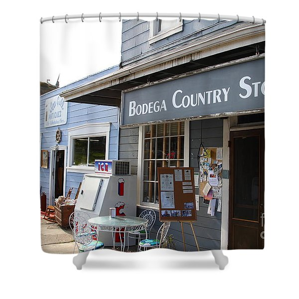 Bodega Country Store . Bodega Bay . Town Of Bodega . California . 7d12452 Shower Curtain by Wingsdomain Art and Photography