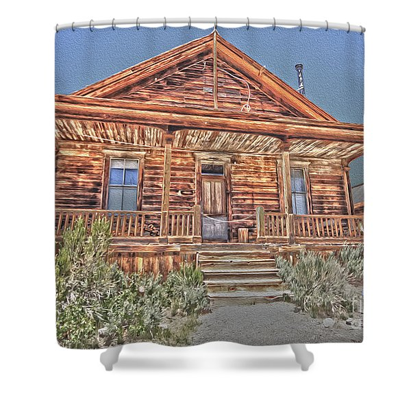 Bodie Images Shower Curtain by Cheryl Young