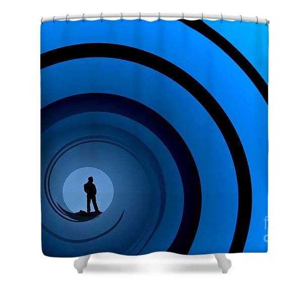 Bond Man Shower Curtain by Steve Purnell