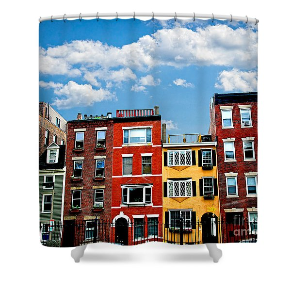 Boston houses Shower Curtain by Elena Elisseeva