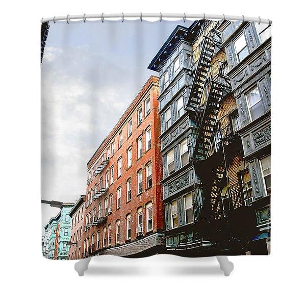 Boston street Shower Curtain by Elena Elisseeva