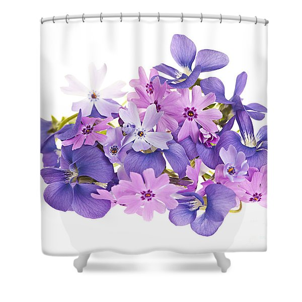 Bouquet of spring flowers Shower Curtain by Elena Elisseeva