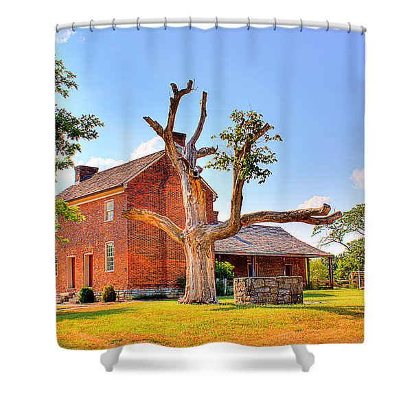 Bowen Plantation House 003 Shower Curtain by Barry Jones