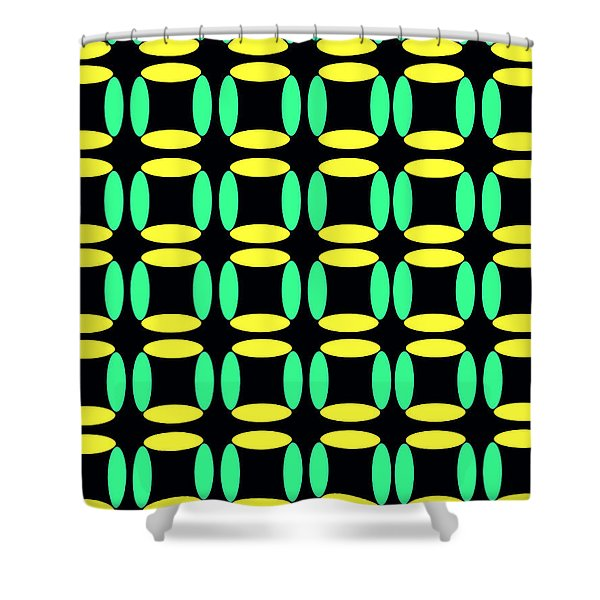 Boxes Shower Curtain by Louisa Knight