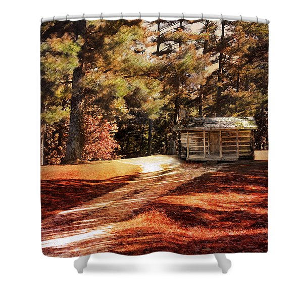 Brewer Cabin Shower Curtain by Jai Johnson