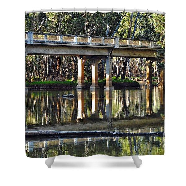 Bridge over Ovens River 2 Shower Curtain by Kaye Menner