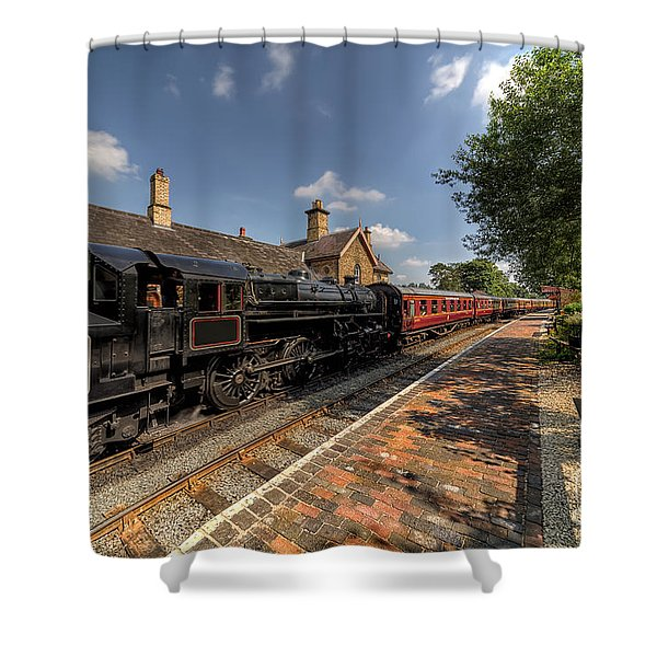 British Locomotion Shower Curtain by Adrian Evans
