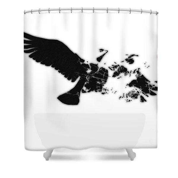 Broken Peace Shower Curtain by Pixel Chimp