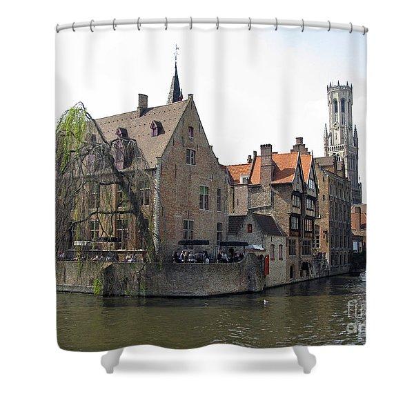Brugge. Belgium. Spring 2011 Shower Curtain by Ausra Paulauskaite