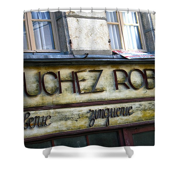 Buchez Robert Shower Curtain by Nomad Art And  Design
