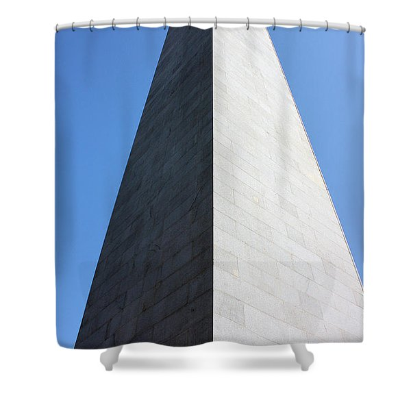 Bunker Hill Monument Shower Curtain by Kristin Elmquist