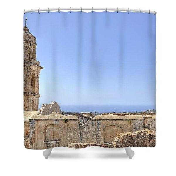 Bussana Vecchia - Liguria - Italy Shower Curtain by Joana Kruse