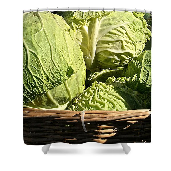 Cabbage Heads Shower Curtain by Susan Herber