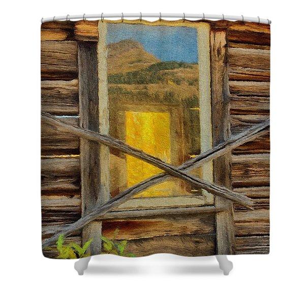 Cabin Windows Shower Curtain by Jeff Kolker