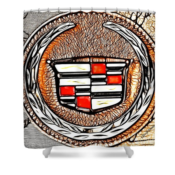 Cadillac Shower Curtain by Cheryl Young
