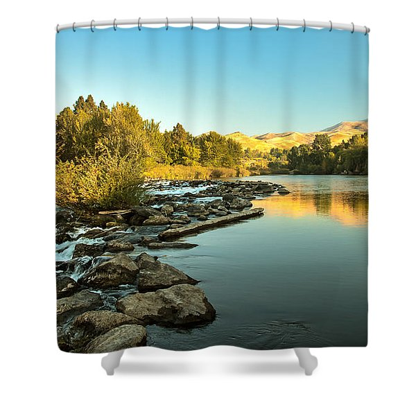 Calm Payette Shower Curtain by Robert Bales