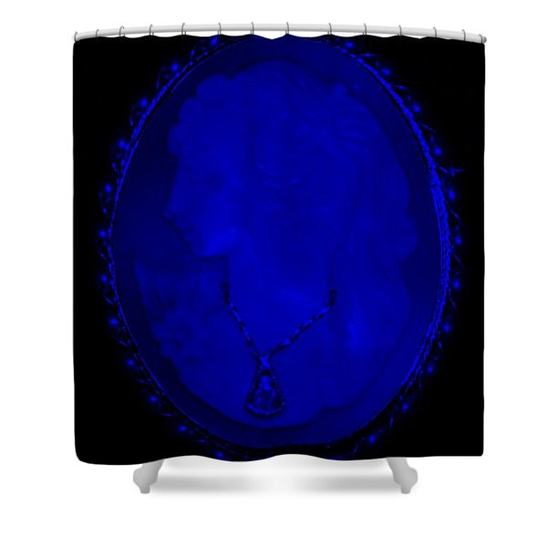 CAMEO in BLUE Shower Curtain by ROB HANS