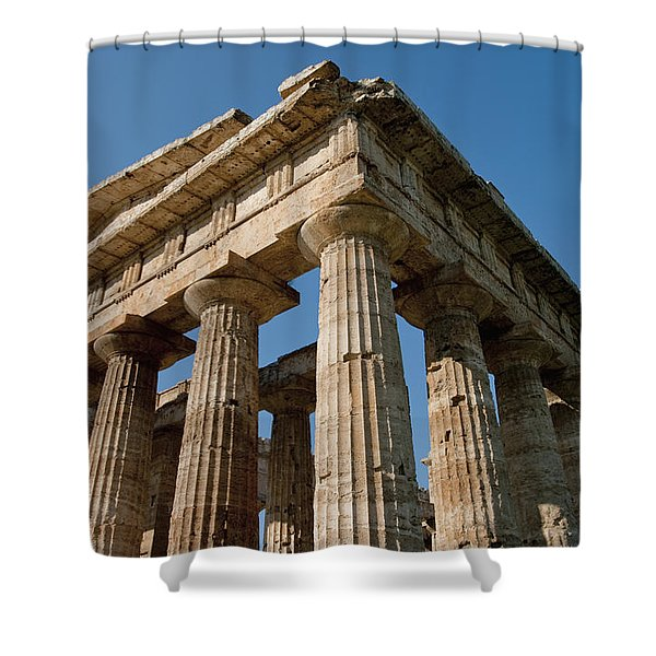 Campania Ruins Shower Curtain by Axiom Photographic