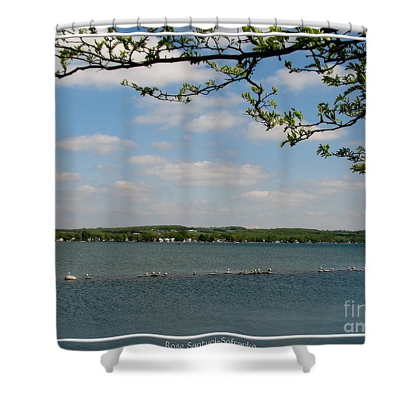 Canandaigua Lake Shower Curtain by Rose Santuci-Sofranko