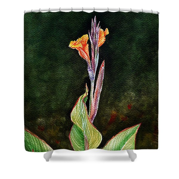 Canna Lily Shower Curtain by Irina Sztukowski