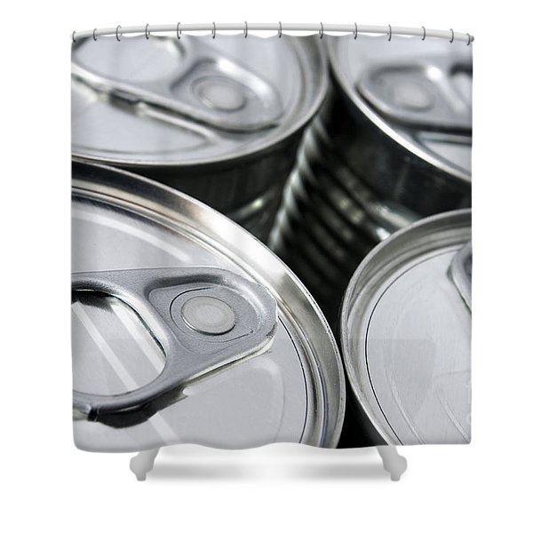 Canned food Shower Curtain by Carlos Caetano