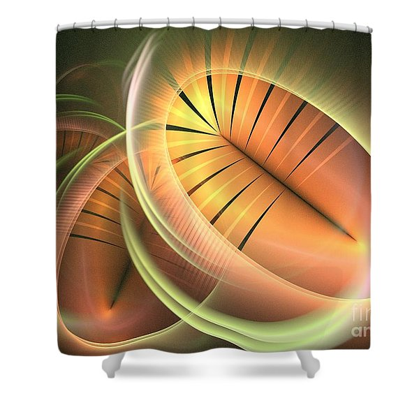 Canteloupe Shower Curtain by Kim Sy Ok
