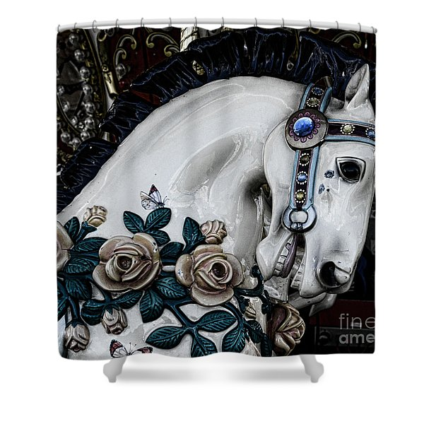 Carousel Horse - 8 Shower Curtain by Paul Ward