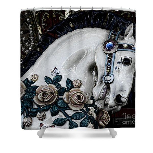 Carousel Horse - 8 Shower Curtain by Paul Ward