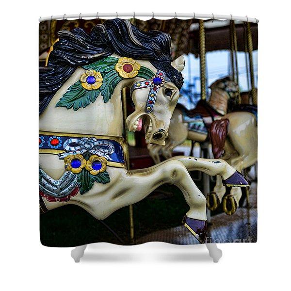 Carousel Horse 5 Shower Curtain by Paul Ward