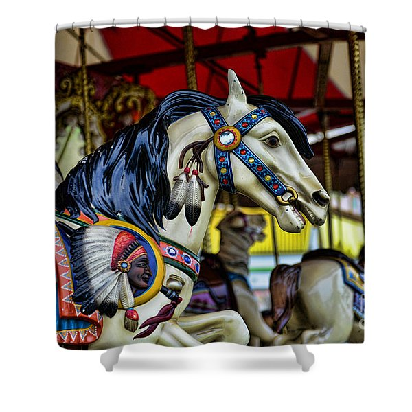 Carousel Horse 6 Shower Curtain by Paul Ward