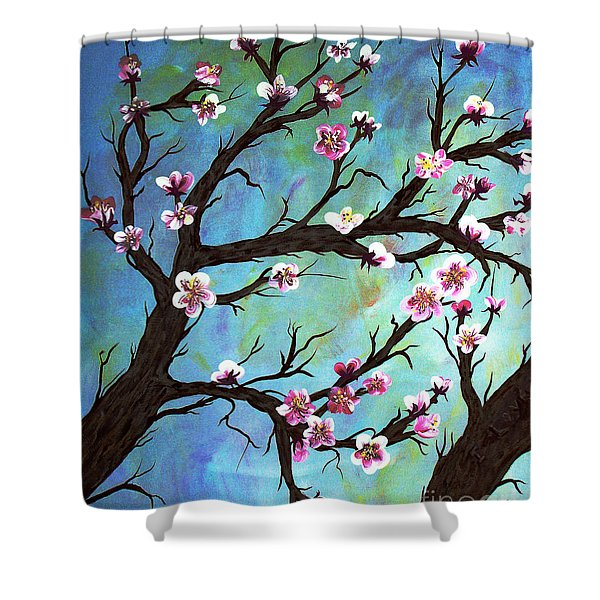 Carved In A Cherry Tree I Shower Curtain by Barbara Griffin