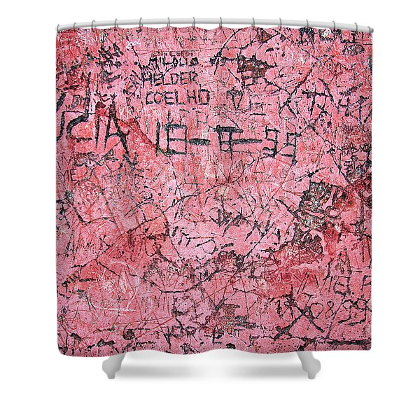 Carvings on Wall Shower Curtain by Carlos Caetano