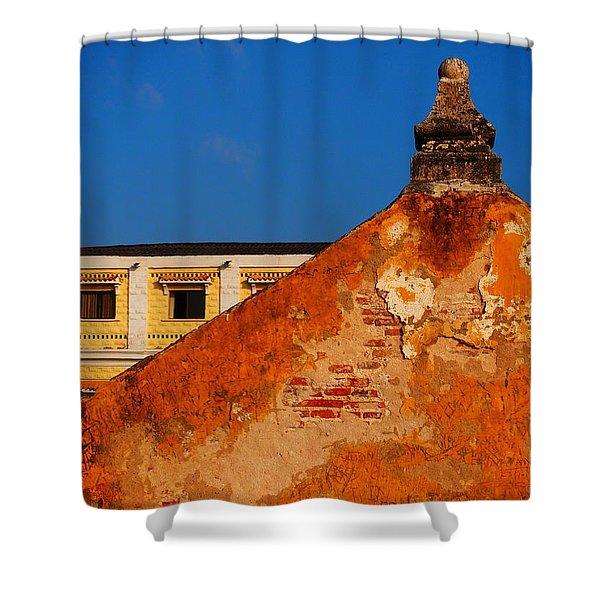 Castillo de Oro Shower Curtain by Skip Hunt