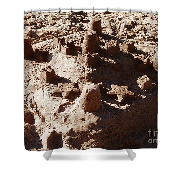 Castles Made Of Sand Shower Curtain by Xueling Zou