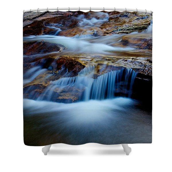 Cataract Falls Shower Curtain by Chad Dutson