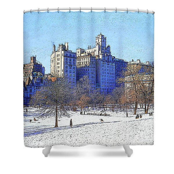 Central Park Shower Curtain by Chuck Staley
