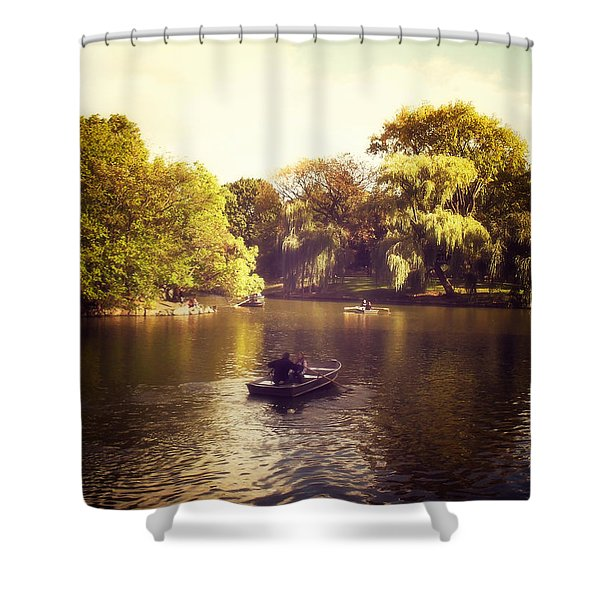Central Park Romance - New York City Shower Curtain by Vivienne Gucwa