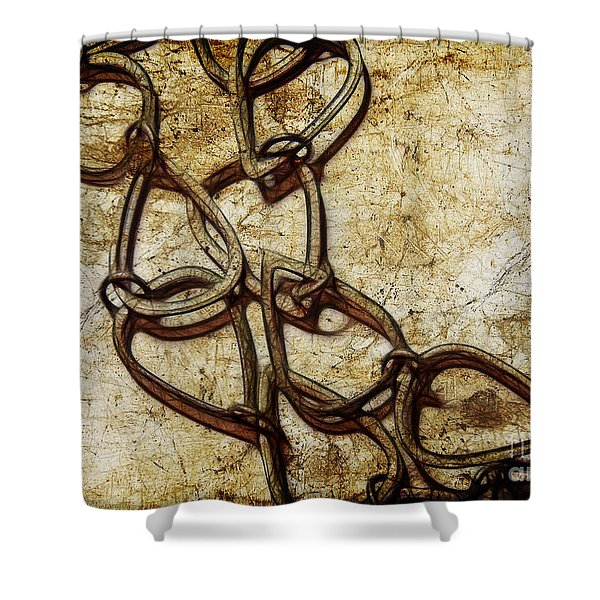 Chain Links Shower Curtain by Judi Bagwell
