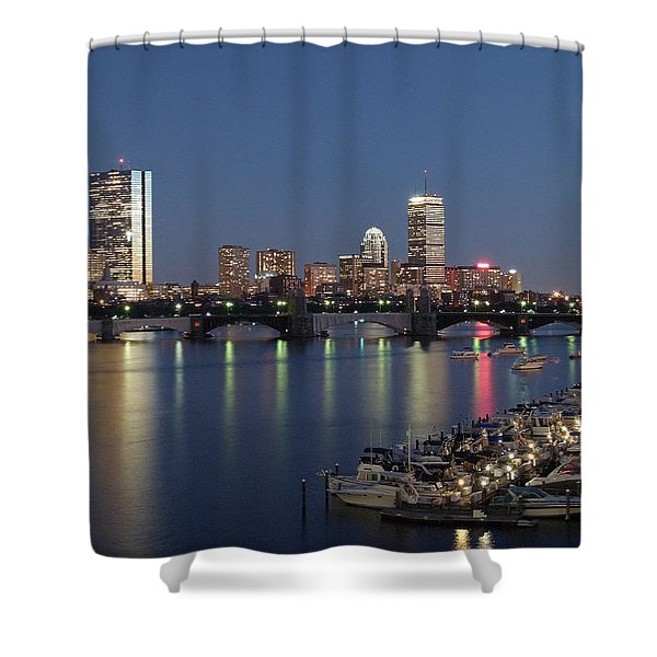 Charles River Yacht Club Shower Curtain by Juergen Roth
