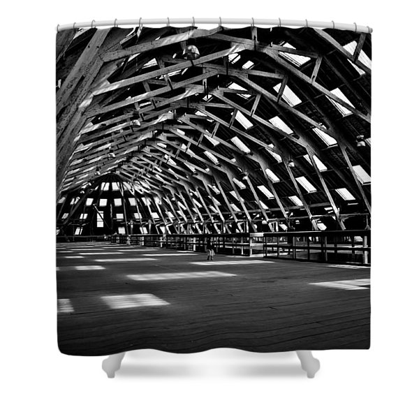 Chatham Dockyard Covered Slip No3 Shower Curtain by Dawn OConnor