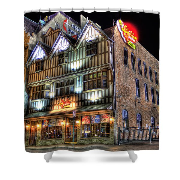 Cheli's Chili Bar Detroit Shower Curtain by Nicholas  Grunas