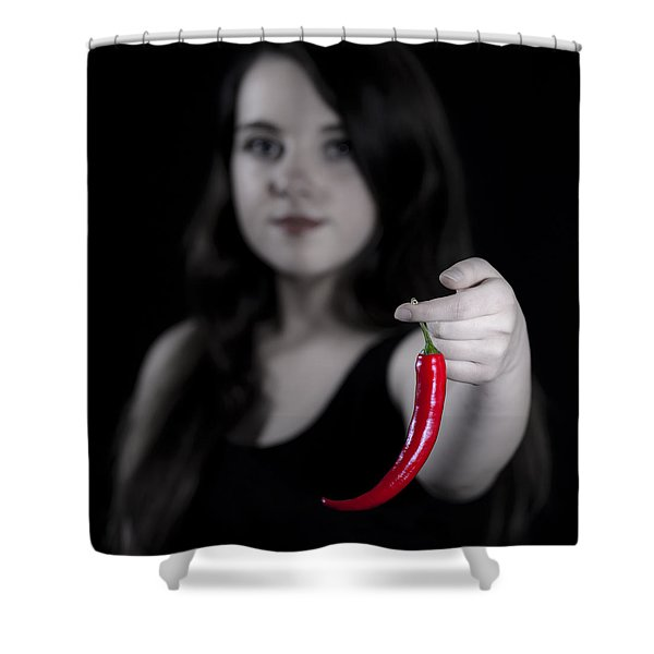 chillies Shower Curtain by Joana Kruse