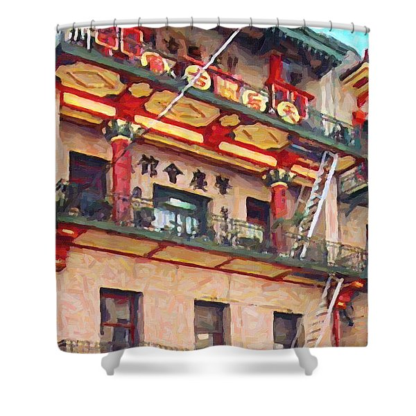 Chinatown Shower Curtain by Wingsdomain Art and Photography