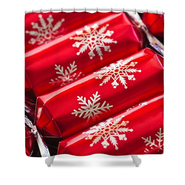 Christmas Crackers Shower Curtain by Elena Elisseeva
