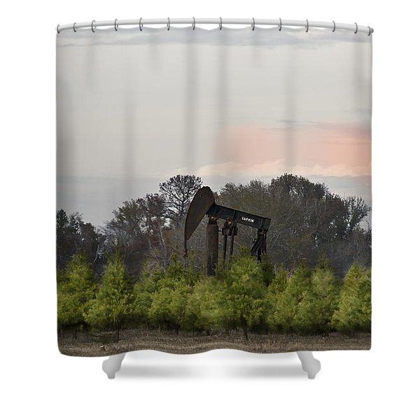 Christmas Tree Farm Shower Curtain by Kim Henderson