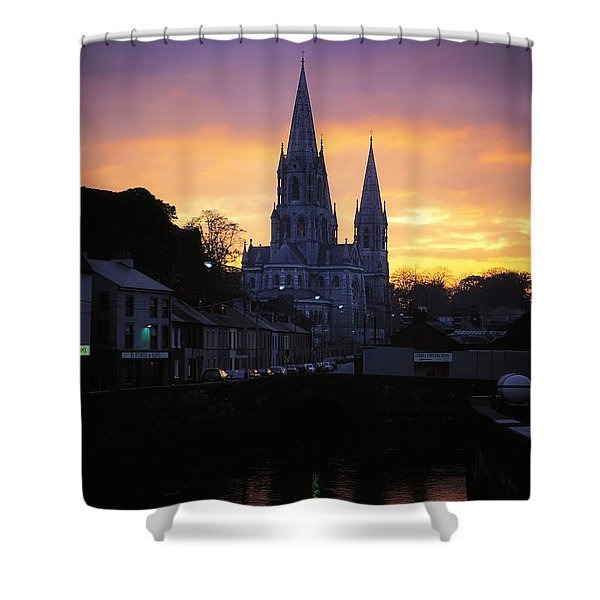 Church In A Town, Ireland Shower Curtain by The Irish Image Collection