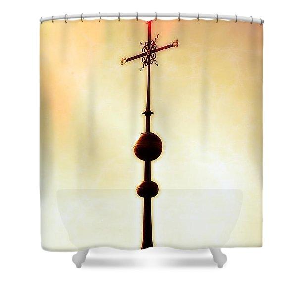 Church Spire Shower Curtain by Joana Kruse