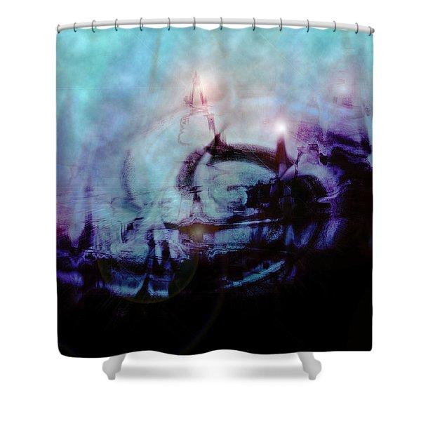 Cityscapes Shower Curtain by Linda Sannuti