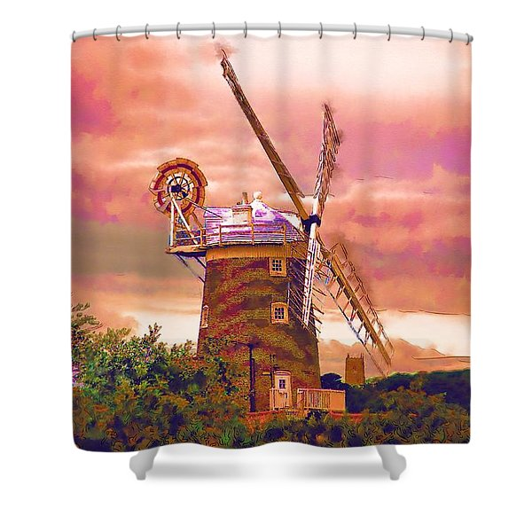 Cley Windmill 2 Shower Curtain by Chris Thaxter